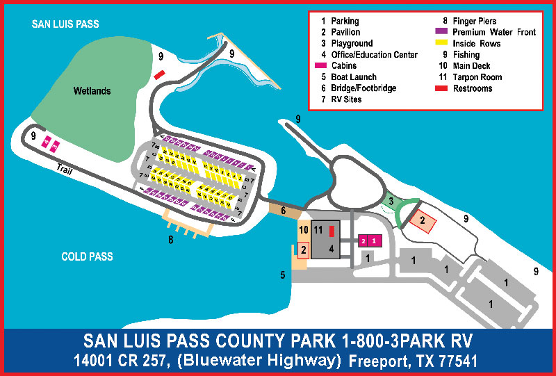 San Luis Pass Map Brazoria County Tx