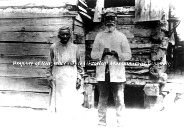 Enslaved Ned Thompson and his wife near East Columbia, TX.