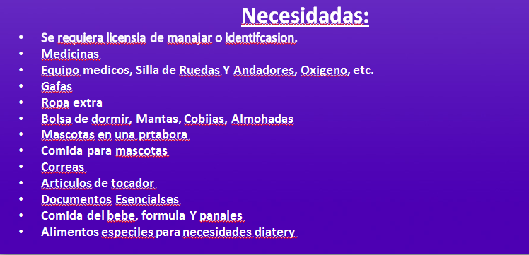 what to bring spanish