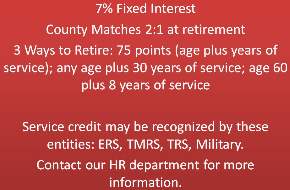 texas county district retirement system brazoria county tx